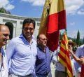 Protesta contra la exhumación de Franco en el Valle de los Caídos