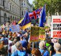 Protestas contra el cierre del Parlamento en Reino Unido
