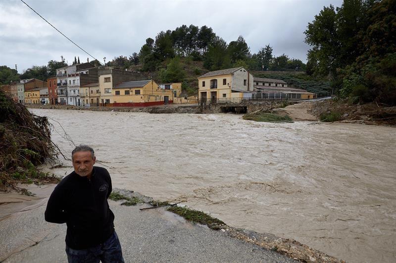 El río Clariano, a su paso por el municipio alicantino de Ontinyent.