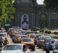 Manifestación de Vox en coche contra Sánchez