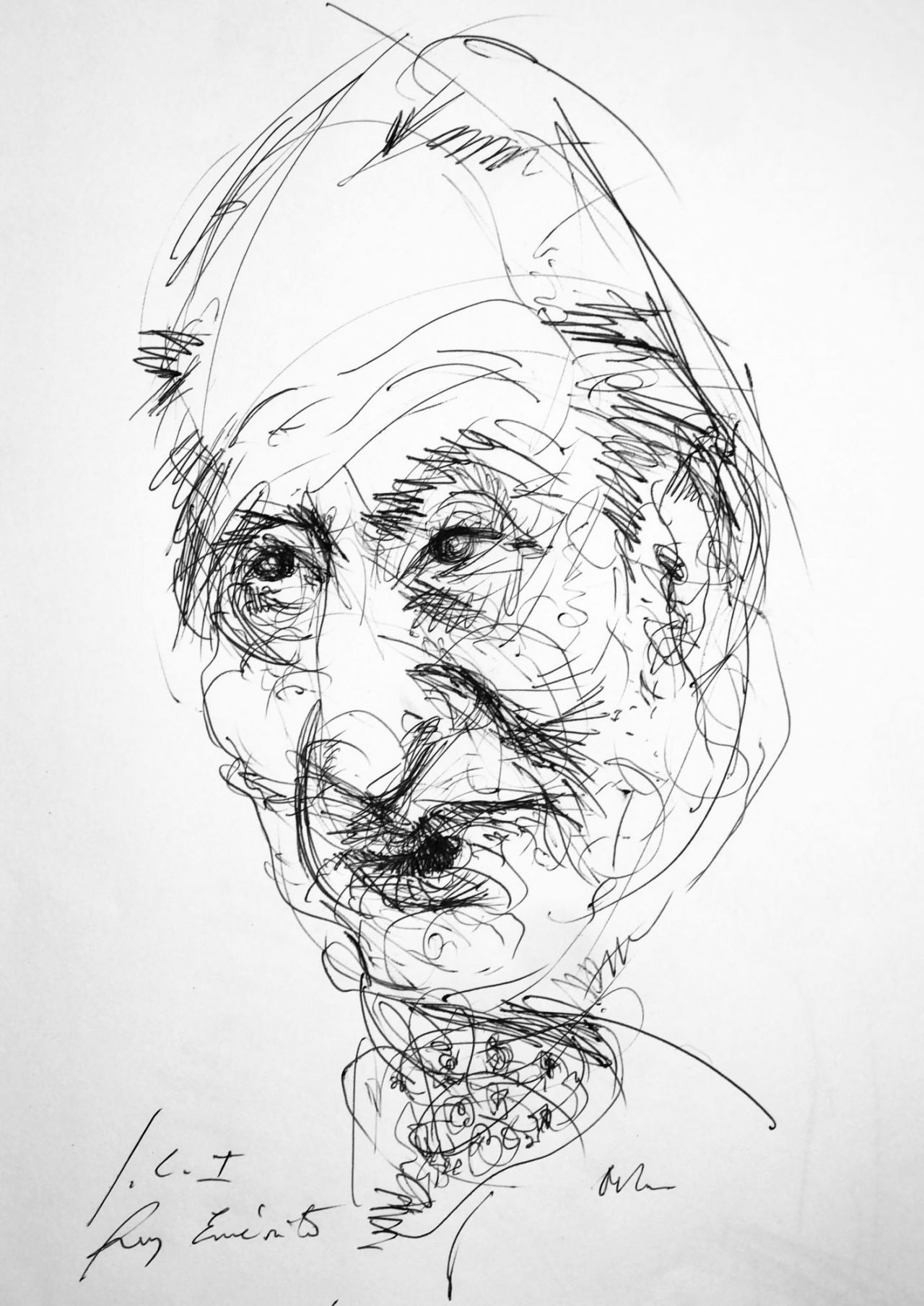 Juan Carlos I. Caricatura de Víctor Ochoa