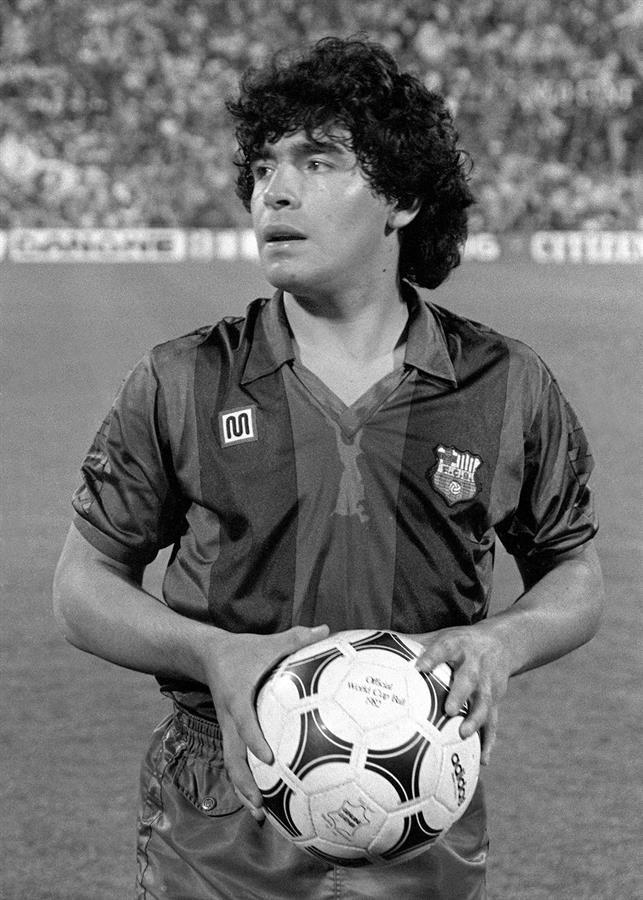 Maradona en su etapa como jugador del FC Barcelona.