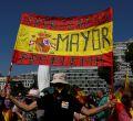 Concentración en Colón contra los indultos de Sánchez