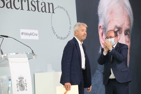 José Sacristán recibe en San Sebastián el Premio Nacional de Cinematografía