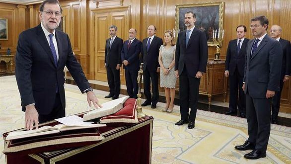 Mariano Rajoy jura ante el Rey su cargo como presidente