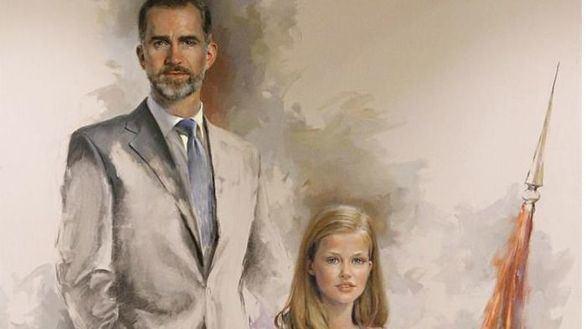 Un retrato de Felipe VI y la Princesa Leonor preside el Club Siglo XXI