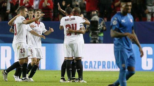 El Sevilla golea y acaricia octavos |4-0