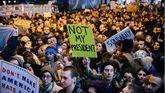 Ciudadanos protestan contra el resultado electoral en NuevaYork