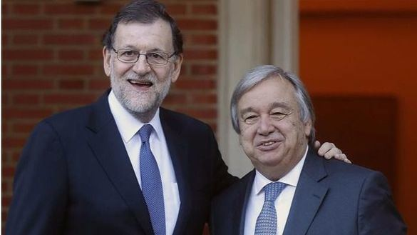 Guterres agradece a Rajoy el papel destacado de España en su eleccion al frente de la ONU
