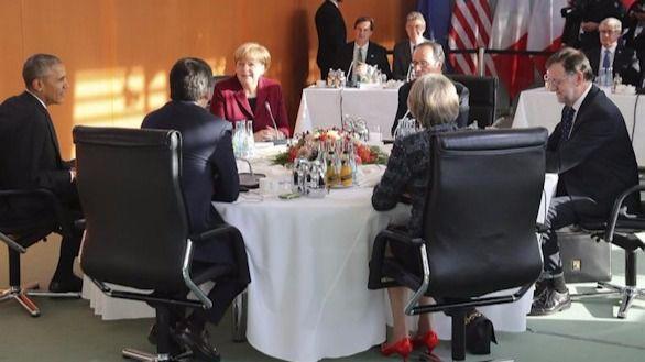 Obama se reúne con sus aliados europeos
