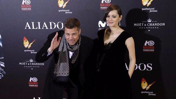 Brad Pitt y Marion Cotillard se dejan ver juntos en la noche de Madrid