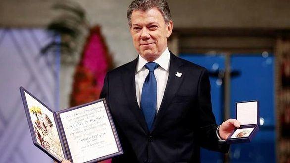 Santos recibe el Nobel de la Paz: