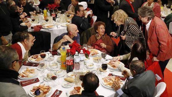 Nochebuena de Carmena con 200 sintecho: