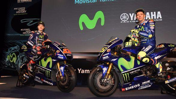 Movistar Yamaha MotoGP presenta su nuevo equipo: Maverick Viñales se une a Valentino Rossi