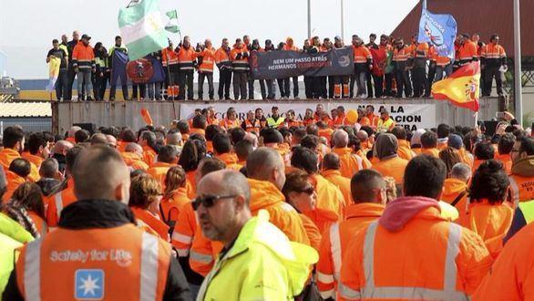 La huelga de los estibadores costará 450 millones a España