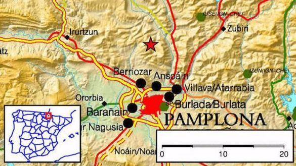 Nuevo terremoto en Navarra de 3,3 grados