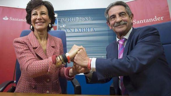 Banco Santander y el Gobierno de Cantabria firman acuerdos de colaboración