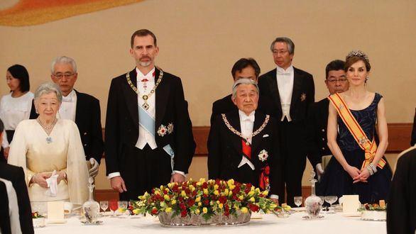 Japón ofrece una cena de gala en honor de los Reyes de España