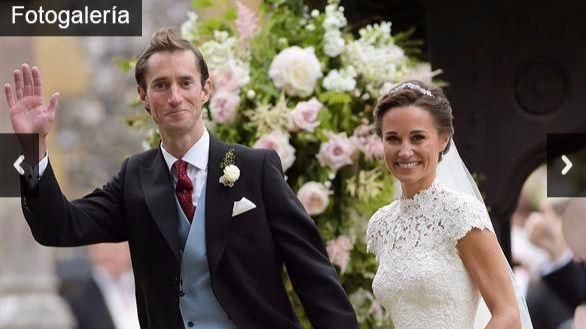 Pippa Middleton dice 'sí quiero' al empresario James Matthews