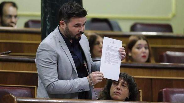 Rufián, al ministro Zoido en el Congreso: