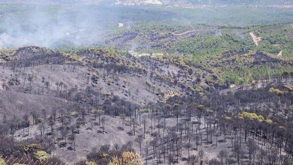 Estabilizado el incendio de Riotinto tras permanecer 29 horas en llamas