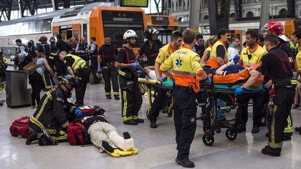 El accidente de tren en Barcelona deja 56 heridos