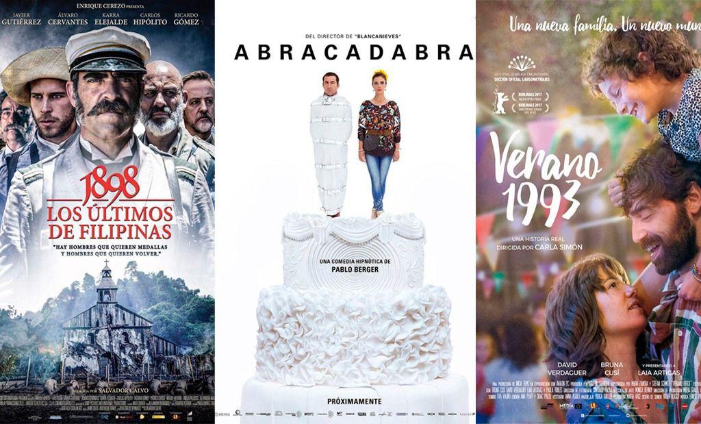 Los tres filmes elegidos por la Academia de Cine para la 90 edición de los Oscar