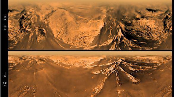 La sonda Cassini-Huygens desciende a Titán, la luna de Saturno