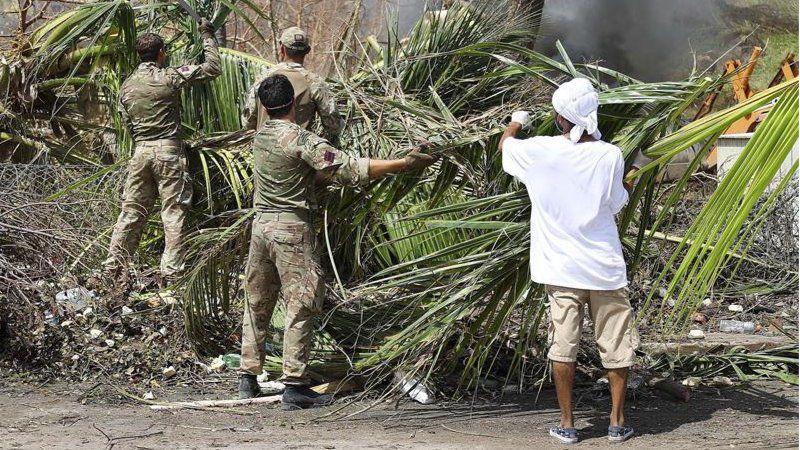 Las islas del Caribe pierden su color verde tras el paso del huracán Irma