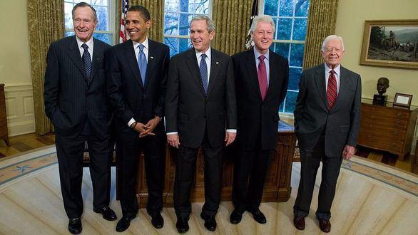 Los expresidentes de EEUU recaudan fondos para las víctimas de los huracanes