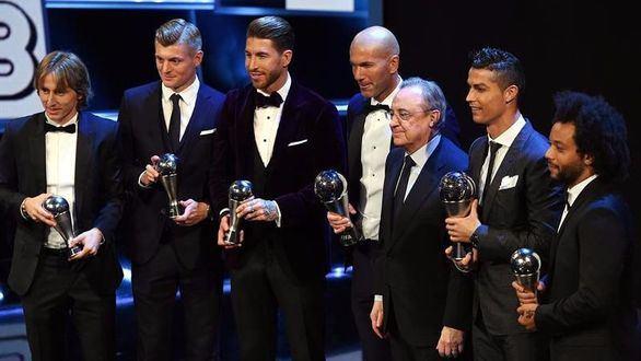 Zidane y Cristiano, premios 'The Best' a mejor entrenador y jugador, respectivamente