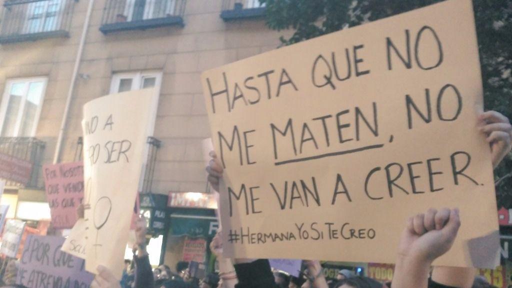 Cientos de manifestantes protestan en Madrid contra la