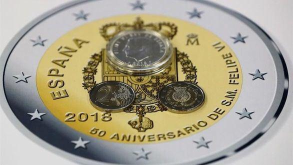 La moneda por el 50 aniversario del Rey comenzará a usarse a mitad de febrero