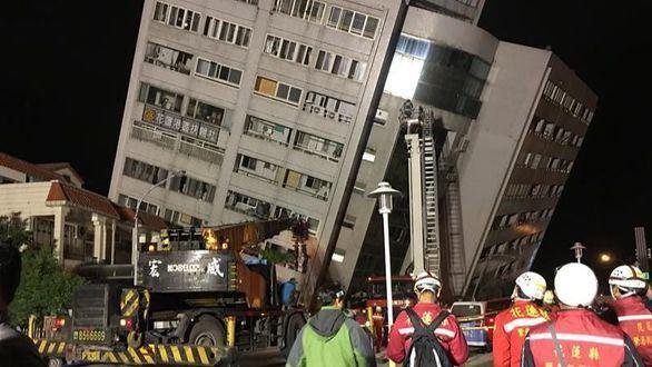 Un terremoto de magnitud 6,4 deja al menos dos muertos y 200 heridos en Taiwán