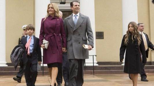 Donald Trump Jr. (dcha) y Vanessa Trump (izq).