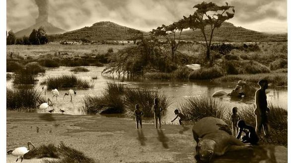 Halladas huellas de niños de hace 700.000 años en un yacimiento en Etiopía