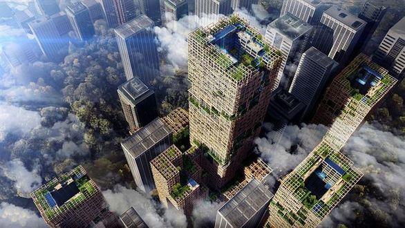El rascacielos de madera más alto del mundo será construido en Tokio