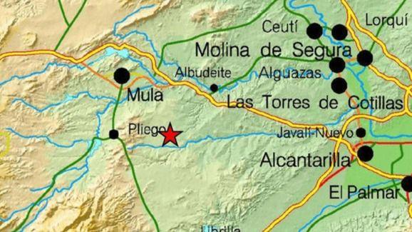 Un terremoto de 4,1 grados y dos réplicas sacuden Murcia