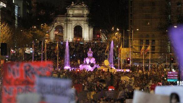 Multitudinarias manifestaciones en toda España por el Día Internacional de la Mujer
