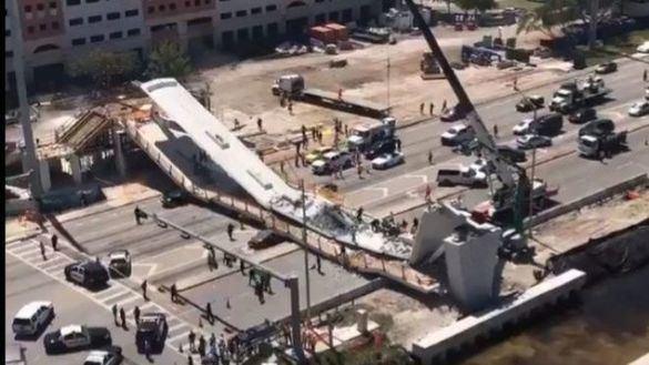 Varios muertos en Miami al derrumbarse un puente recién instalado