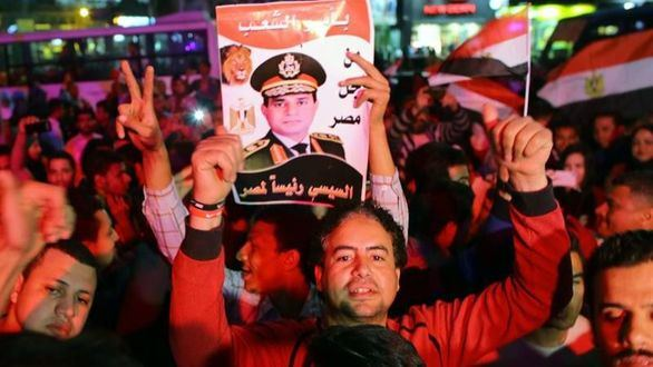 Al Sisi, sin rival, gana en Egipto