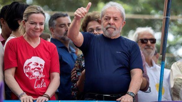 El expresidente brasileño, Lula da Silva, durante su intervención.