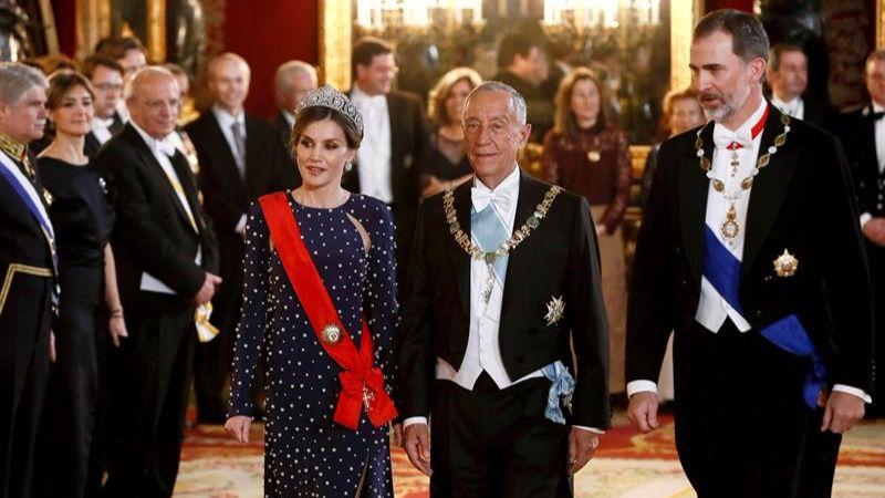 Los Reyes dan la bienvenida al presidente luso con una cena de gala
