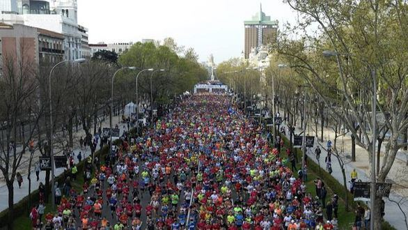 Más de 35.000 corredores participan en la Maratón de Madrid