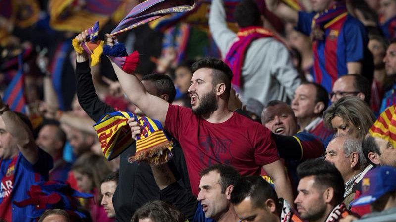 Los separatistas, indignados por la ausencia de camisetas amarillas en la final de la Copa del Rey