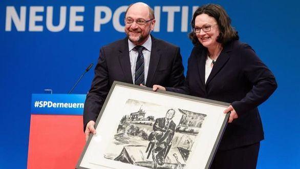 Nahles, nueva jefa del partido alemán SPD