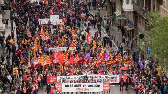 La Manada se cuela en las manifestaciones del 1 de mayo