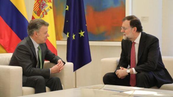Rajoy recibe a Santos en La Moncloa