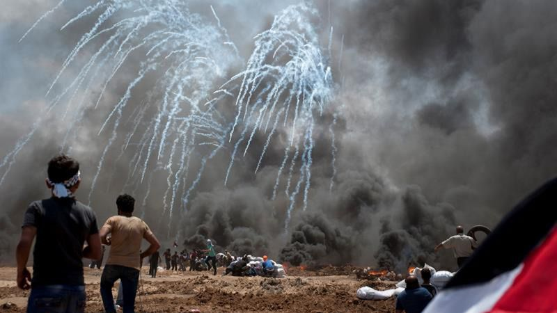 Al menos 58 palestinos muertos durante las protestas en Gaza