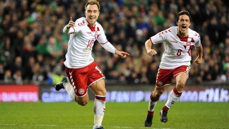 Dinamarca: el fútbol de Eriksen para asumir el rol de tapado